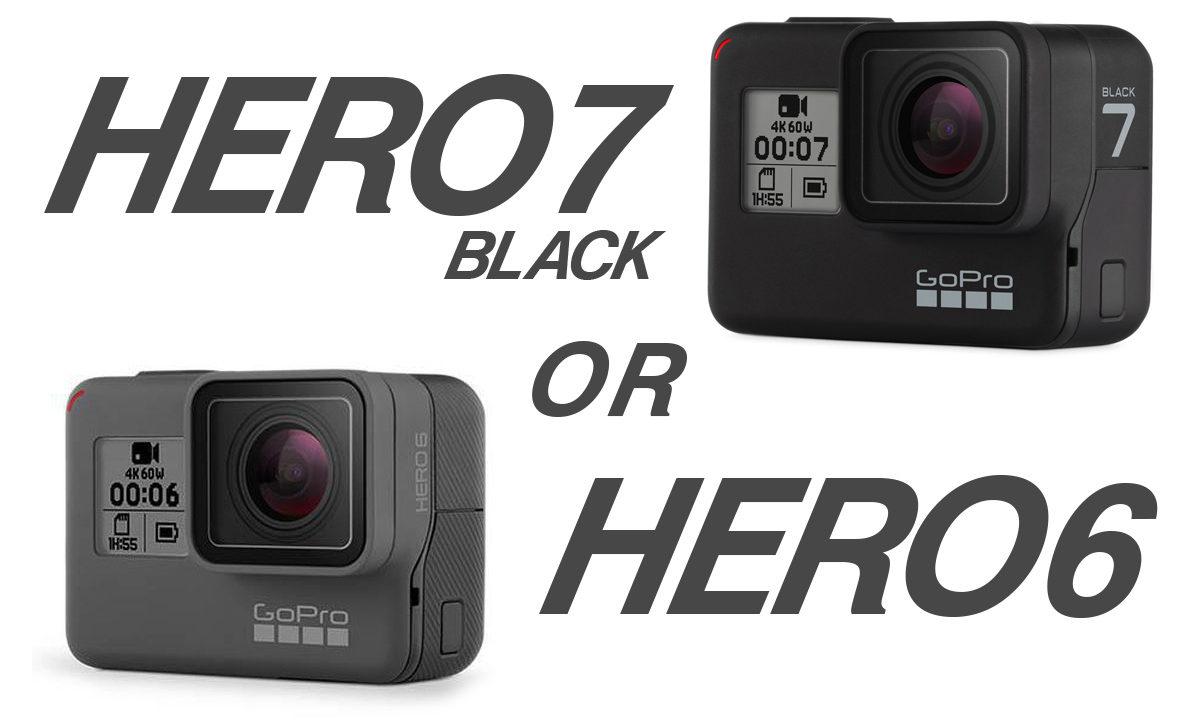 GoPro HERO7 BlackとGoPro HERO6をさくっと比較してみました。最新の手振れ補正「HyperSmooth」や「ライブストリーミング」機能が付いたHERO7。コスパ重視ならHERO6という選択も全然あり。